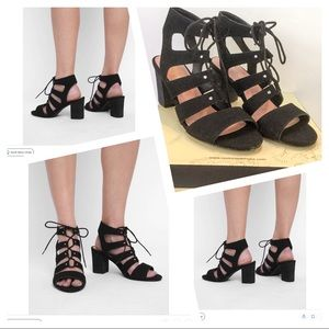 Restricted Lace Up Caged Sandals